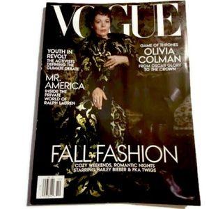 Vogue Magazine Olivia Colman Fall Fashion Oct 2019